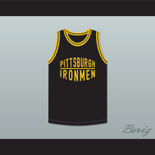 Pittsburgh Ironmen 46 Black Basketball Jersey