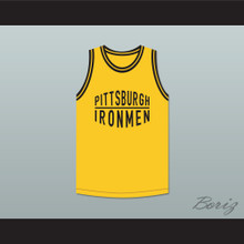 Pittsburgh Ironmen 46 Yellow Basketball Jersey