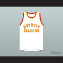 Stan Miasek 14 Detroit Falcons White Basketball Jersey
