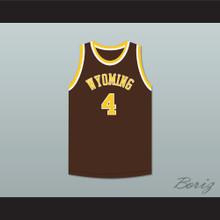 Ken Sailors 4 Wyoming Cowboys Brown Basketball Jersey