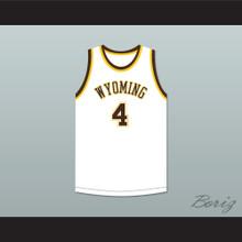 Ken Sailors 4 Wyoming Cowboys White Basketball Jersey