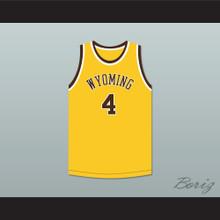 Ken Sailors 4 Wyoming Cowboys Yellow Basketball Jersey