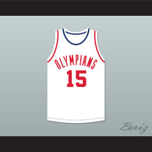 Alex Groza 15 Indianapolis Olympians White Basketball Jersey