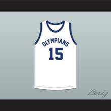 Alex Groza 15 Indianapolis Olympians Retro White Basketball Jersey