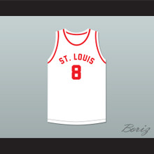 Don Putman 8 St. Louis Bombers White Basketball Jersey