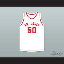 Ed Macauley 50 St. Louis Bombers White Basketball Jersey