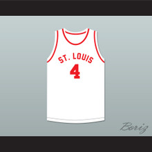 Red Rocha 4 St. Louis Bombers White Basketball Jersey