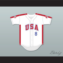 Bill Swift 8 1984 USA Team White Button Down Baseball Jersey