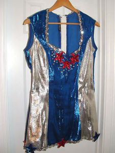Star Spangled Blue & Silver Lame Costume-One of a Kind!