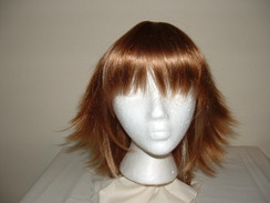 Strawberry Blonde Collar-Length Flip-Style Wig