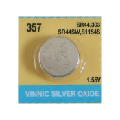 SR44W, 357 Silver Oxide Watch Battery by Evergreen 1.55V High Drain