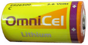 Omnicel ER26500/S  3.6V  8.5Ah Size C High Energy  Lithium Battery