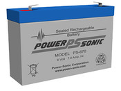 Power-Sonic PS-670 Battery - 6 Volt 7.0 Amp Hour