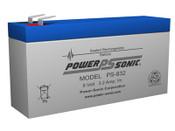 Power-Sonic PS-832 8V 3.2Ah Battery
