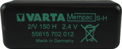 Varta Mempac 55615702012 - 2/V150H PC TP Battery - 2.4V 150 Milliamp Hour Ni-MH