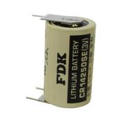 FDK CR14250SE-FT Battery - 3 Volt 850mAh 1/2 AA Lithium 3 Pins (2+/1-)