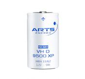 VH D 9500 XP NiMH Arts Energy 1.2V 9000 mAh Flat Top