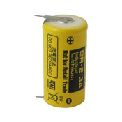 Panasonic BR-2/3AE5SP Battery - 3 Volt 1200mAh 2/3 A Lithium 2 Pins (1+/1-)