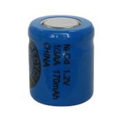 Evergreen 1.2V 130mAh Ni-Cd Rechargeable 1/3 AA Battery - N1/3AA