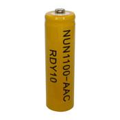 Nuon NUN-1100AAC Battery - 1.2V 1100mAh Ni-Cd AA Rechargeable (Button Top)