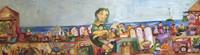 """Sandra Dooley #5209. """"La feria,"""" 2005. Acrylic on canvas. 12 x 39 inches."""