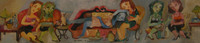 "Sandra Dooley #5235. ""Borrachitas,"" 2005. Acrylic on canvas. 8 x 36 inches."