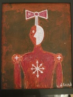 Alazo - Alejandro Lazo #6018.  Untitled, 2012. Oil on posterboard. 13 x 10.5 inches