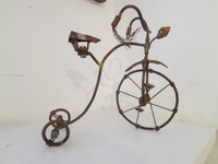 Faife (Yudit Vidal Faife) #8035. Untitled, ND. Copper wire sculputur.e 12 x 12 x 7 inches.