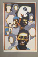 """Raúl Martínez #98. """"La juventud es mia,""""1998. Serigraph print edition 30/40. 28 x 20 inches."""