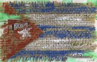 Tulete/Nylene #6483.  Untitled, 2017. Mixed media on paper. 4 x 6.5 inches.