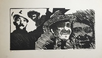"Carballo (Oscar Carballo)  #118A. ""Sonrisa campesina,"" N.D. Print artist proof. 14 x 24 inches"