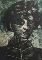 Choco (Eduardo Roca Salazar) #108. Untitled, 1979. Lithograph print edition 10 of 12. 26 x 19.5 inches.