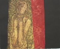 "Choco (Eduardo Roca Salazar) #3447. ""El silencio,"" 2001. Collagraph print edition 1 of 2.  11.5 x 15 inches."