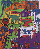 "Isabel de las Mercedes #1405. ""La comunidad de las,"" 1999. Tempera on paper. 13 x 10.5 inches."