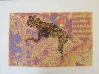 """Bebe cheetah en Estambul,"" Ibrahim Miranda #5665. 2011. Screen print edition 15 of 15. 22"" x 30""."