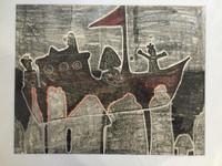 Fuster (José Rodríguez Fuster) #92. Untitled, 1984. Monotype print. 20 x 24 inches.