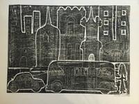 Fuster (José Rodríguez Fuster) #94. Untitled, 1984. Monotype print. 20 x 24 inches.