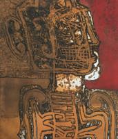 """Carballo (Oscar Carballo)  #110. """"El musico y sus amigos,"""" 1986. Lithograph print. 19.5 x 23.5 inches."""