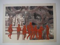 "Roger Aguilar #123. ""Serie: Los ciegos de este siglo,"" 1974. Print, 17 x 23.5 Inches."