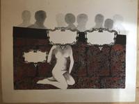 """Roger Aguilar #125a. """"El espejo de alma,"""" 1977. Lithograph print. 20 x 25 inches."""