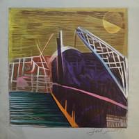 Jose Omar Torres #144 -1. Untitled, 1977. Color linoleum print. 16 x 16 inches