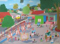 "Roberto Torres Lameda #7004 (SL). ""Evento de plastica,"" 2010. Oil on canvas. 18 x 24 inches. Grupo Bayate painting."