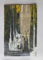 "Juan Carlos Anzardo #7079. Untitled, 2014. Mixed media on paper. 12.5"" x 9.5 inches."