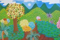 "051 Rosabal, ""Un mundo differente,"" 2014. Oil on canvas. 11""x 16"" #7087"