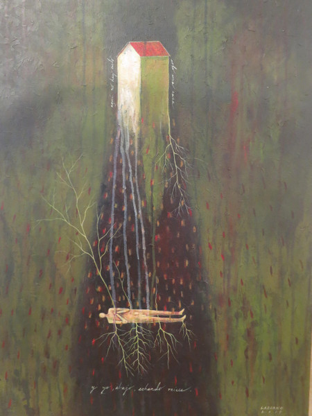 """Echando Raices,"" Manuel Perez Lazcano #6113. 2014. Acrylic on canvas, 31"" x 23.5""."