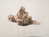 "Franklin Alvarez #4018. ""Sin titulo,"" 2004. Watercolor on paper. 20.5 x 29.5 inches"