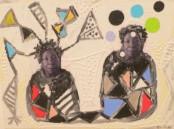 """""""Mirror without Sorrows,"""" Rafael Arzuaga #6022A. 2009. Mixed media on canvas, 12"""" x 16""""."""