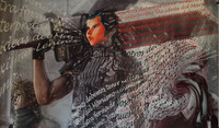 Sandra Ceballos #6221. Untitled, 2016. Digital print on canvas. 29 x 48 inches.