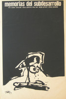 "Antonio Saura. ""Memorias del subdesarrollo,"" 1968. Silkscreen print. 30 x 20 inches"
