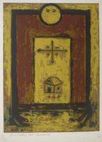 "Alazo - Alejandro Lazo  1996C. ""Protector del universo,"" N.D. Print edition 8 of 10. 20.5 14.5 inches."